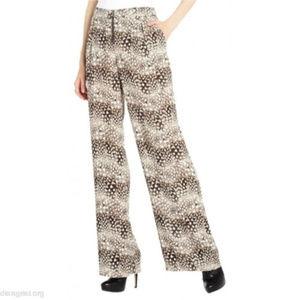 BCBGMAXAZRIA LANDON Camel Combo High Waisted Pants